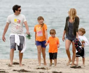 *EXCLUSIVE* Patrick Dempsey and his family out in Malibu